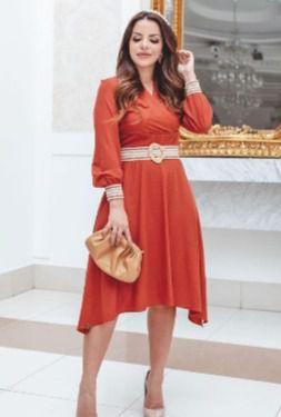 Vestido Lady Like em Malha Rayon - Kauly