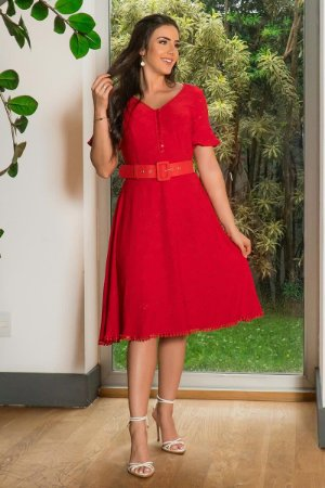 Vestido Lady Like em Malha Laise - Luciana Pais