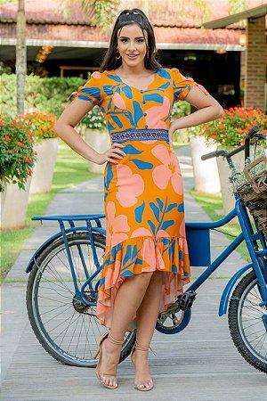 Vestido em viscose - Luciana Pais