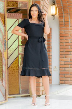 Vestido em crepe - Luciana Pais