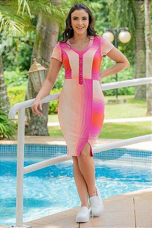 Vestido em Malha crepe - Luciana Pais