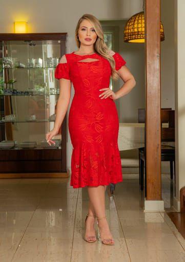 Vestido em Renda - Kauly