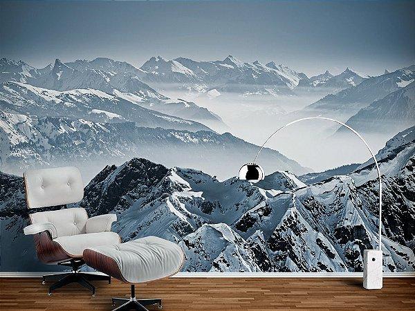 Painel Parede Fotográfico Montanhas Alpes Suíços