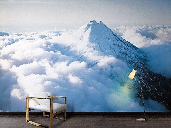 Papel de Parede Fotográfico - Montanha acima nuvens - PA111