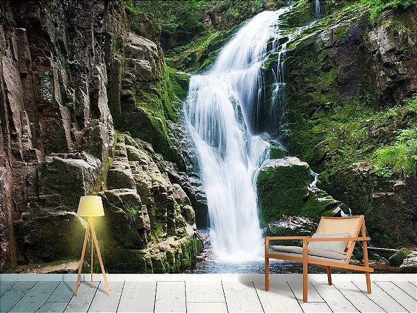 Papel de Parede Fotográfico - Cachoeira na montanha - PA116
