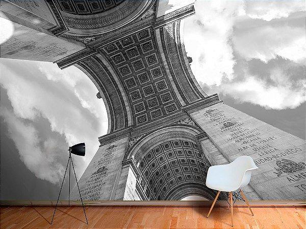 Painel Parede Fotográfico Arco do Triunfo, Paris