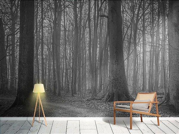 Papel de Parede Fotográfico - Árvores com musgo na floresta - PA126
