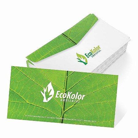 Envelopes Meio Ofício - 11,3x23cm em Papel Off-Set 90gr - 4x0 - Corte e Vinco Padrão