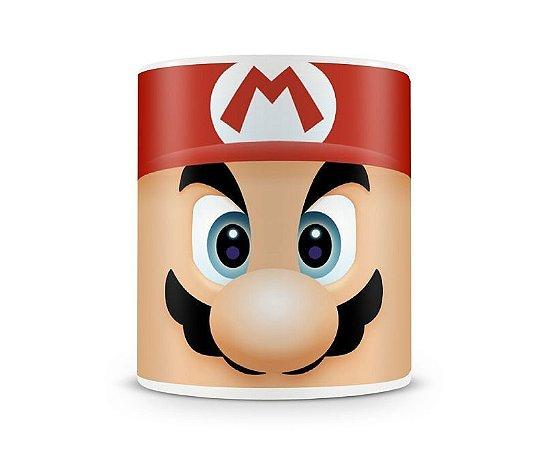 Caneca Super Mario - Porcelana Branca