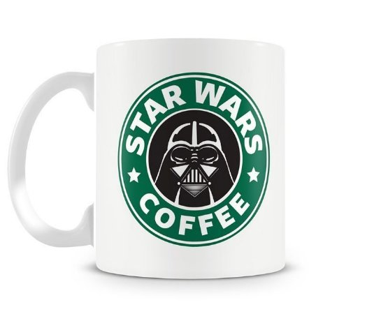 Caneca Strar Wars Coffee - Darth Vader - Porcelana Branca