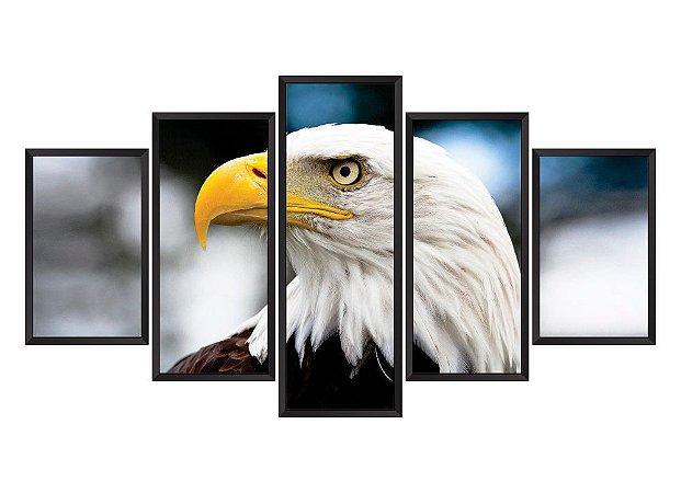 Quadro Mosaico Águia em 5 partes