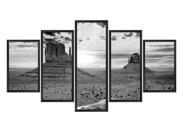 Quadro Mosaico montanha 2 em 5 partes