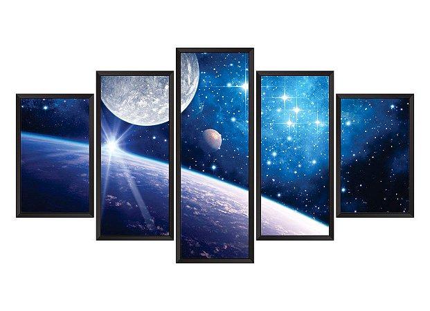 Quadro Mosaico espaço em 5 partes
