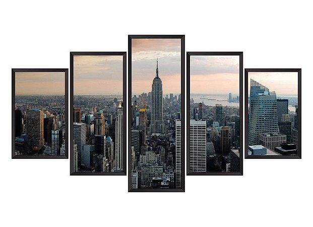 Quadro Mosaico Nova York em 5 partes