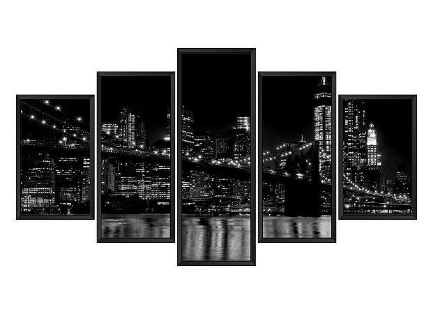 Quadro Mosaico Nova York 2 em 5 partes