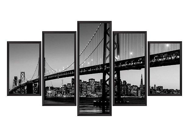 Quadro Mosaico Nova York 5 em 5 partes