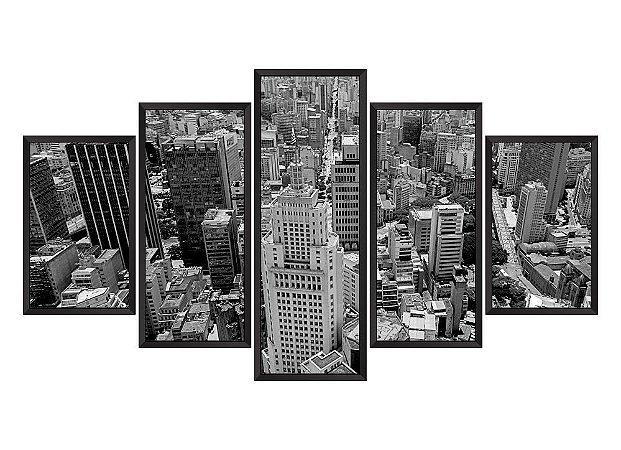 Quadro Mosaico São Paulo 2 em 5 partes