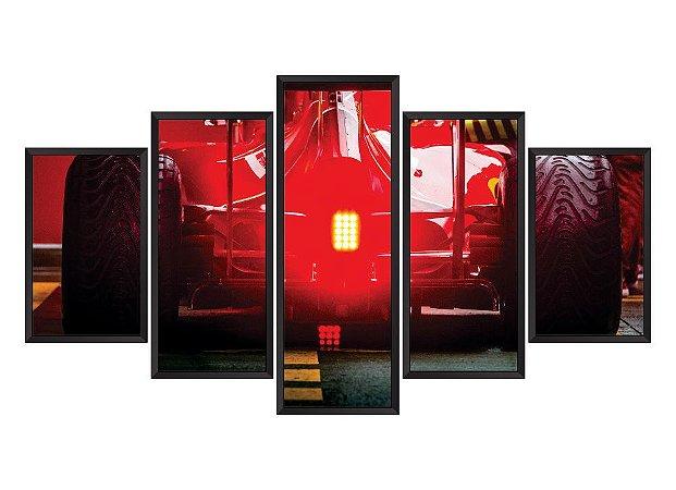 Quadro Mosaico Ferrari 2 em 5 partes