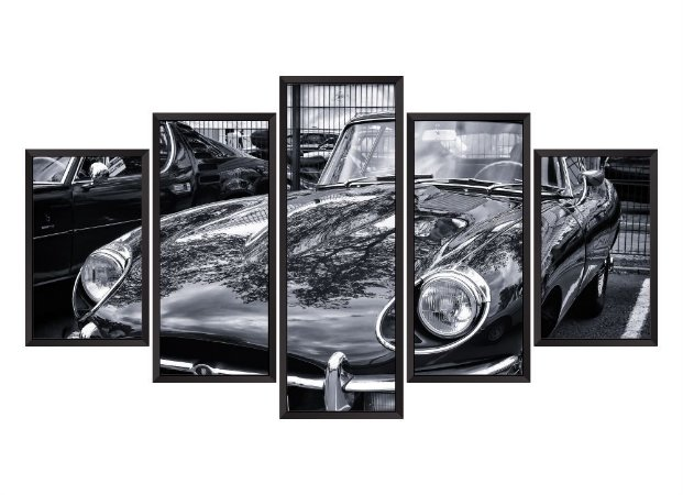 Quadro Mosaico Carro Vintage em 5 partes
