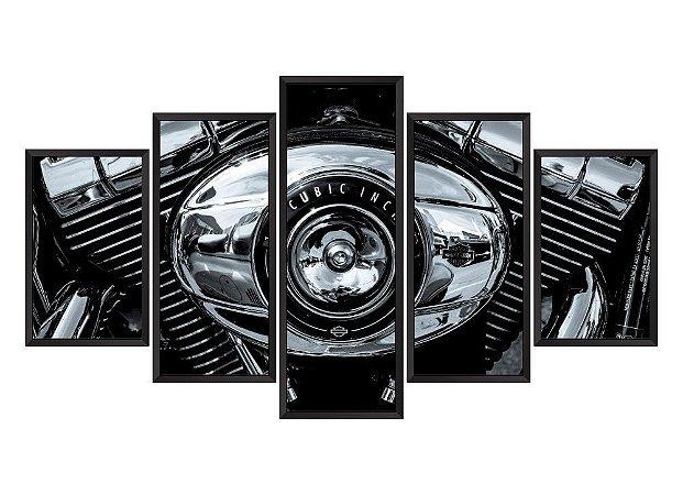 Quadro Mosaico Harley Davidson 3 em 5 partes