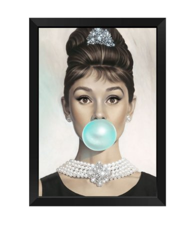 Quadro - Audrey Hepburn Chiclete
