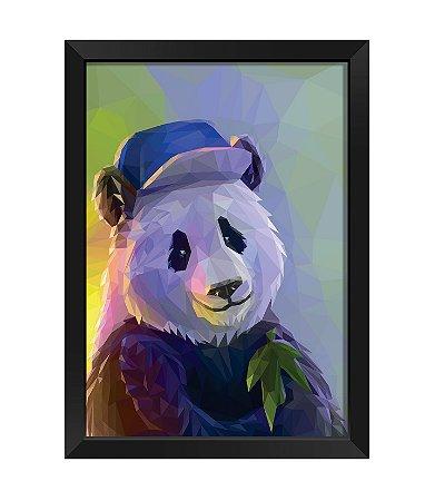 Quadro - Panda Poligonal