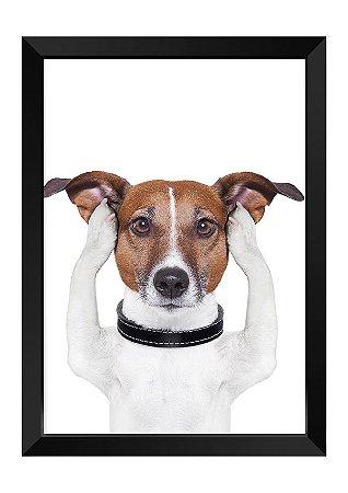Quadro - Cachorrinho Ouvidos Tapados