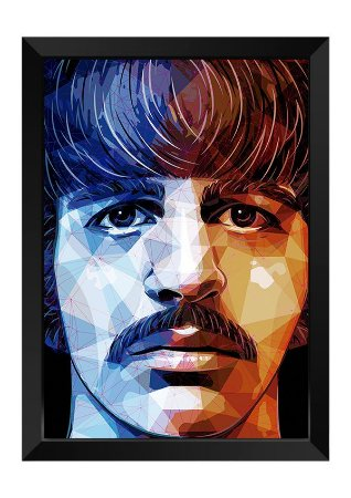 Quadro - Ringo Starr Beatles Poligonal