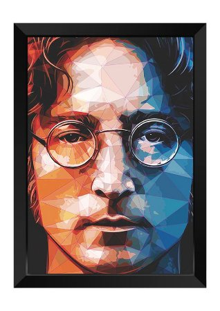 Quadro - John Lennon Beatles Poligonal