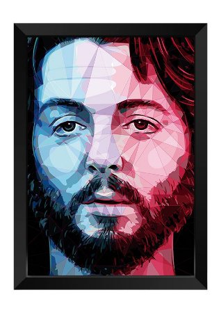 Quadro - Paul Mccartney Beatles Poligonal