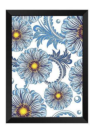 Quadro - Floral Margaridas Azuis