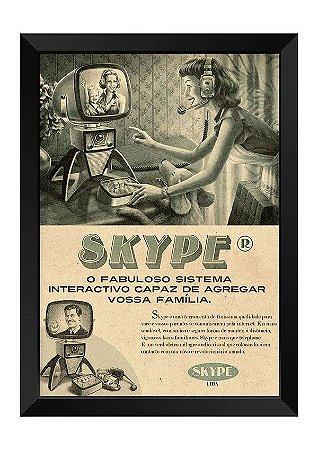 Quadro - Vintage Skype