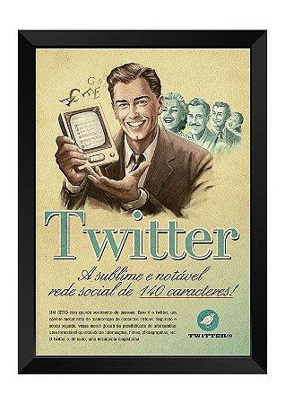 Quadro - Vintage Twitter