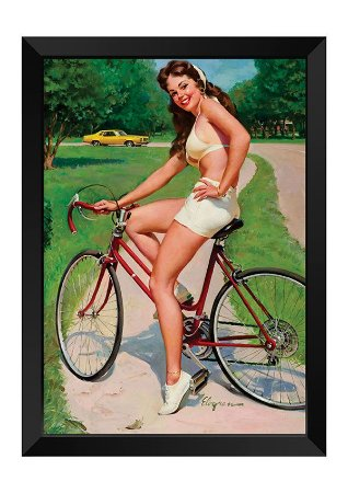 Quadro - Vintage Pin-up Ciclista