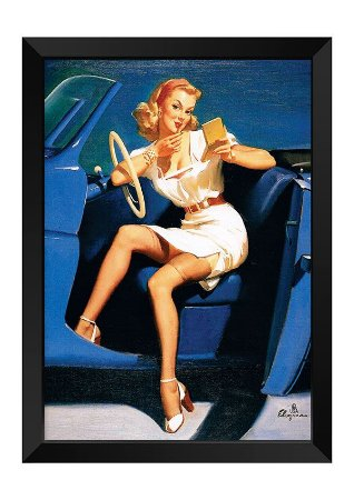 Quadro - Vintage Pin-up Driver