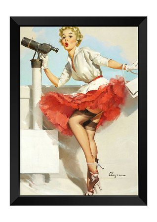 Quadro - Vintage Pin-up Mirante