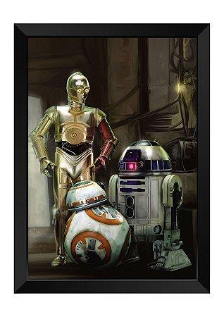 Quadro - Star Wars Robôs