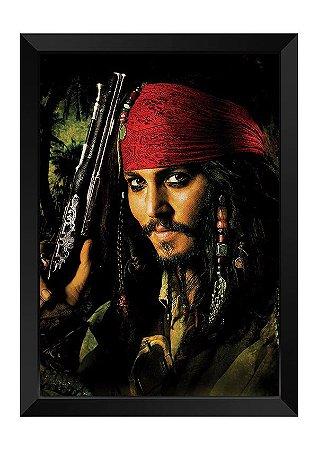 Quadro - Piratas do Caribe Capitão Jack Sparrow