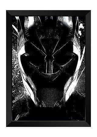 Quadro - Máscara Pantera Negra