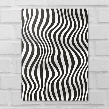 Placa Decorativa - Abstrato Ondas