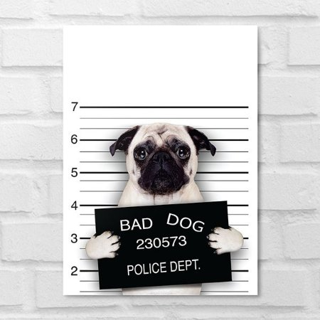 Placa Decorativa - Bad Dog