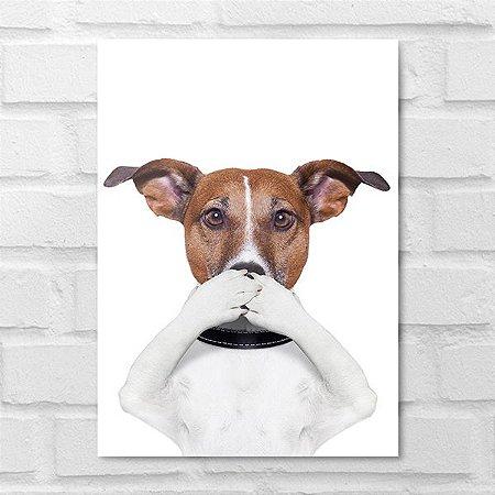 Placa Decorativa - Cachorrinho Boca Tapada