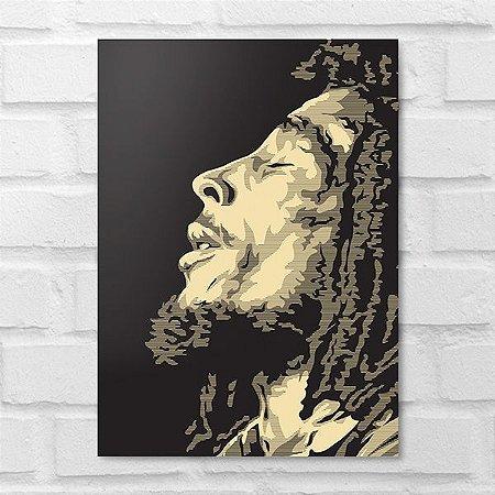 Placa Decorativa - Bob Marley Poster