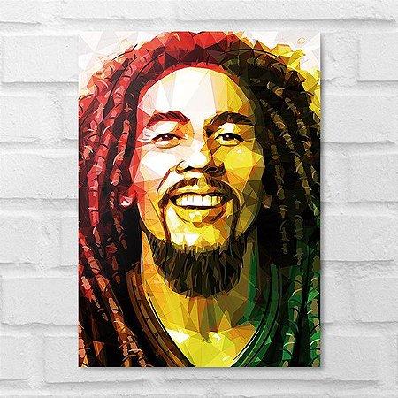 Placa Decorativa - Bob Marley Poligonal
