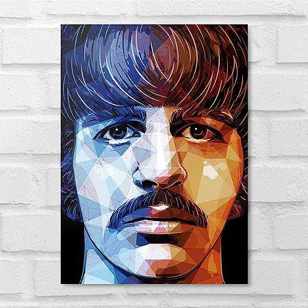 Placa Decorativa - Ringo Starr Beatles Poligonal