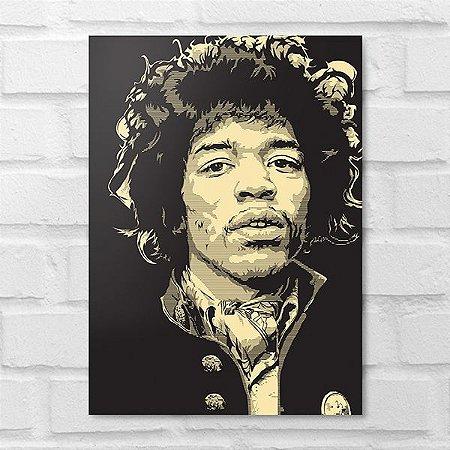 Placa Decorativa - Jimi Hendrix Poster
