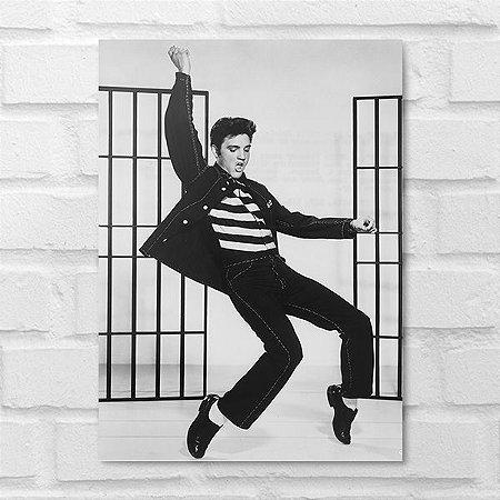 Placa Decorativa - Elvis Presley Clássico P&B