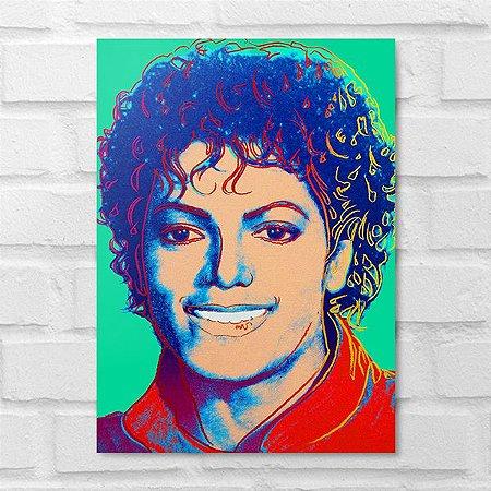 Placa Decorativa - Michael Jackson Colors