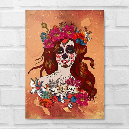 Placa Decorativa - Pop Art Day Of Dead