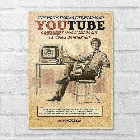 Placa Decorativa - Vintage YouTube